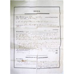 Gold Rush Era Deed in Broadside Form  85143