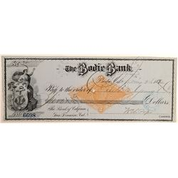 Bodie Bank Check to Mr. DeYoung  109560