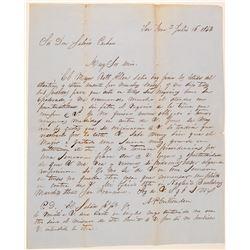 1853 AP Crittendon Letter to Don Salvio Pacheco  105757