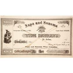 Napa & Sonoma Wine Company Stock signed by Jacob Beringer  90592