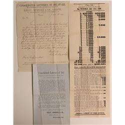 Consolidated Lotteries of Delaware Ephemera  108594