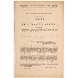 1868 Postmaster General Report About Contracts with Ben Holladay  60167
