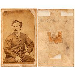 John Wilkes Booth CDV - RARE  105751