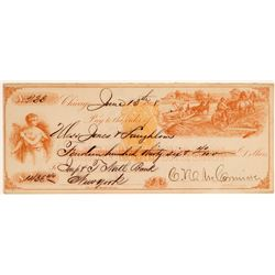 Cyrus McCormick Signed Pictorial Check  104525