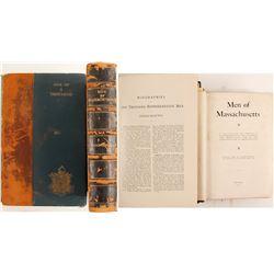 Massachusetts Biographies, Two Books  88660