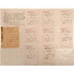 Eleven Montana Business Licenses, 1890  105848