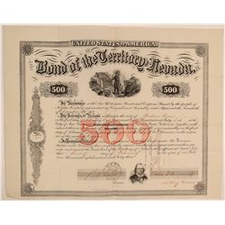 Acting Governor Orion Clemens Signature on Territorial Bond  105750