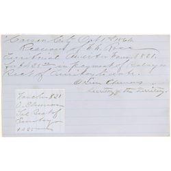 Orion Clemens, Secretary of Territory, Signature  105764