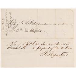 RARE William H. Claggett (Mark Twain's Sidekick)Signature  105759