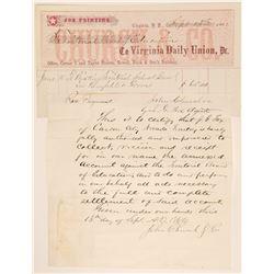 Virginia Daily Union Territorial Billhead  105762