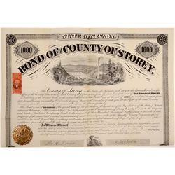 1869 Storey County $1,000 Bond  106809