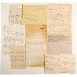 "15 Nevada Letters with Content: Triple murder, HM Yerington, Lyon Switch, ""This is a very small plac"