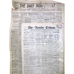 1870's Nevada Newspapers (3)  85136