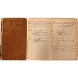 Handwritten Shipping Record Notebook  90527