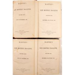 Harper's Magazine - Four Volumes on Nevada/Arizona by J. Ross Browne  80265