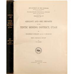 Tintic Mining District, Utah, Geology Survey  105744