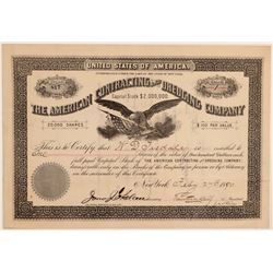 American Contracting & Dredging Co. Stock Certificate--Panama Canal  106775