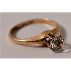 Diamond Ring - Vintage Ladies Solitare with 1 Kt Rock  109480