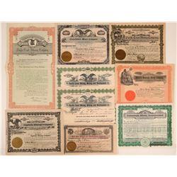 San Bernardino Mining Stock Certificates (9)  105802