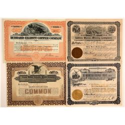 Four Different Alaska Mining Stock Certificates  106722