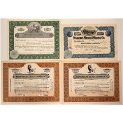 Four Chloride, Arizona Mining Stock Certificates  107464