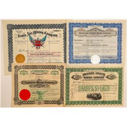 Dragoon Area, Cochise County Mining Stock Certificates  106735