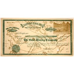 Gold Mining Company Stock Certificate  107529