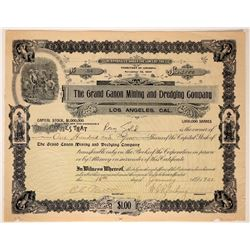 Grand Canon Mining & Dredging Co. Stock Certificate  107462