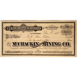 McCrackin Consolidated Mining Company Stock Certificate  107437