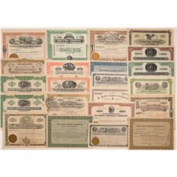 22 Pima County Mining Stock Certificates  106725