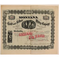 Montana Gold & Silver Mining Co. Stock Certificate  106844