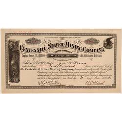 Centennial Silver Mining Company Stock Certificate  106826