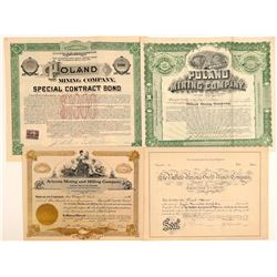 Poland, Arizona Mining Stock Certificates (4)  106923
