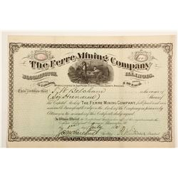 Ferre Mining Company Stock Certificate  60677