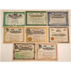 Santa Cruz County Mining Stock Certificates (8)  106928
