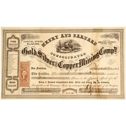 Henry & Barnard Gold, Silver and Copper Mining Company Stock  81632