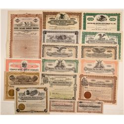 Yavapai County, Arizona Mining Stock Certificate Group (15)  106797
