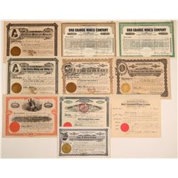 Wickenberg Mining Stock Certificate Collection (10)  106718