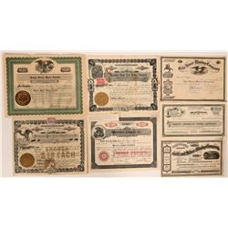 Seven Different Arizona Stock Certificates (Most Mining)  107600