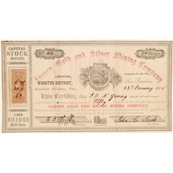 Fossen Gold & Silver Mining Company Stock Certificate  106944