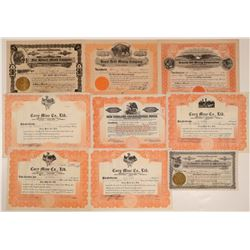 Butte County Mining Stock Certificates (9)  105912