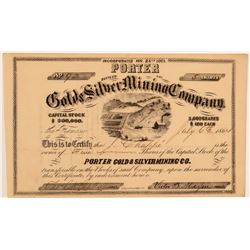 Porter Gold & Silver Mining Co. Stock Certificate  106824