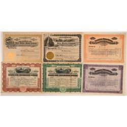 Calaveras County Mining Stock Certificates (6)  105900