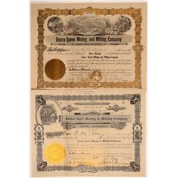 Two Different Calico-Area Mining Stock Certificates  106666