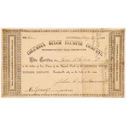 Columbia Gulch Fluming Co. Stock  106598