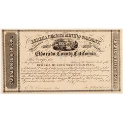 Eureka Quartz Mining Company Stock Certificate  106943
