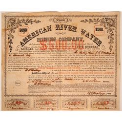 American River Water & Mining Company Bond  107482