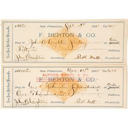 New York Hill Gold Mining Co. Revenue Checks (2)  58563