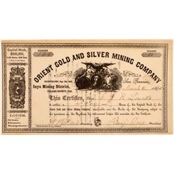 Orient Gold & Silver Mining Company Stock Certificate  106748