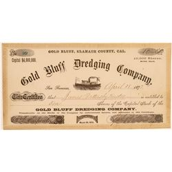 Gold Bluff Dredging Company Stock Certificate  106936